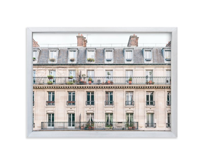 """Days in Paris"" - Limited Edition Art Print by Jessica C. Nugent in beautiful frame options and a variety of sizes. #parispink #pinkpaintcolors #palepink #pinkart"