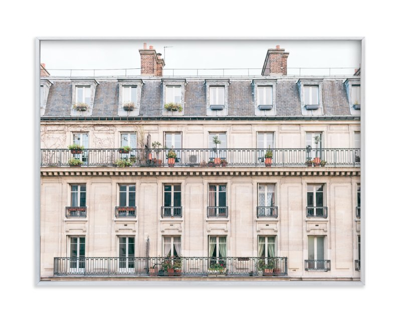 """""""Days in Paris"""" - Limited Edition Art Print by Jessica C. Nugent in beautiful frame options and a variety of sizes."""