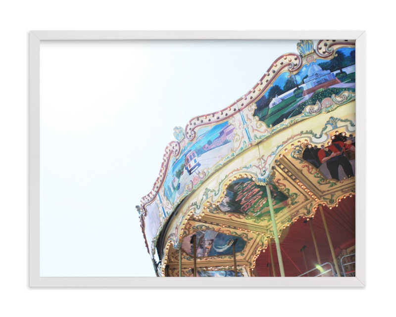 This is a blue art by Melissa Marcarelli called It's called a Carousel with standard.