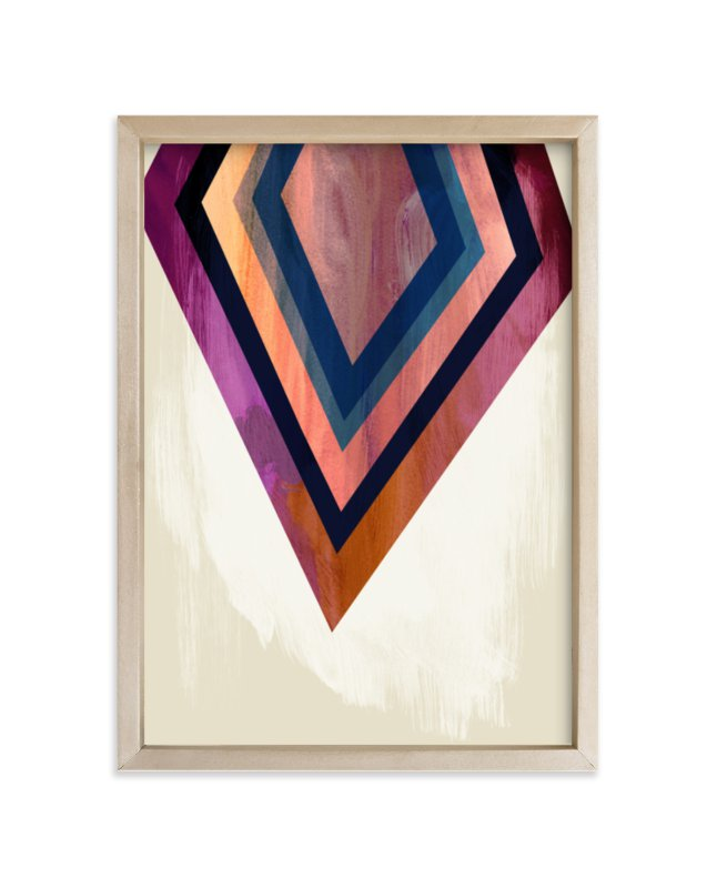 """""""Geo Point"""" - Limited Edition Art Print by Field and Sky in beautiful frame options and a variety of sizes."""
