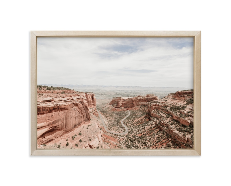 """""""Desert Horizon"""" - Limited Edition Art Print by Jamie Lollback in beautiful frame options and a variety of sizes."""