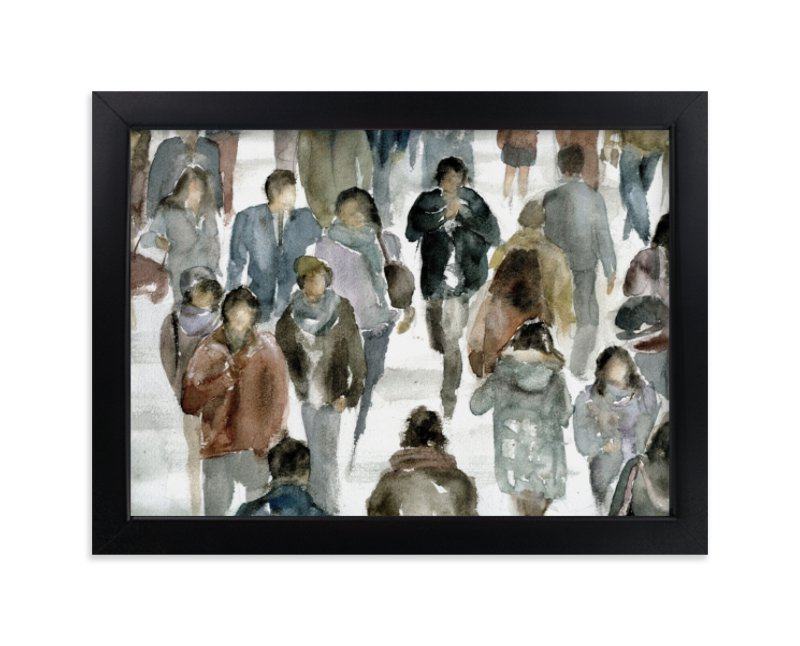 """""""Faces 2"""" - Limited Edition Art Print by Lulaloo in beautiful frame options and a variety of sizes."""