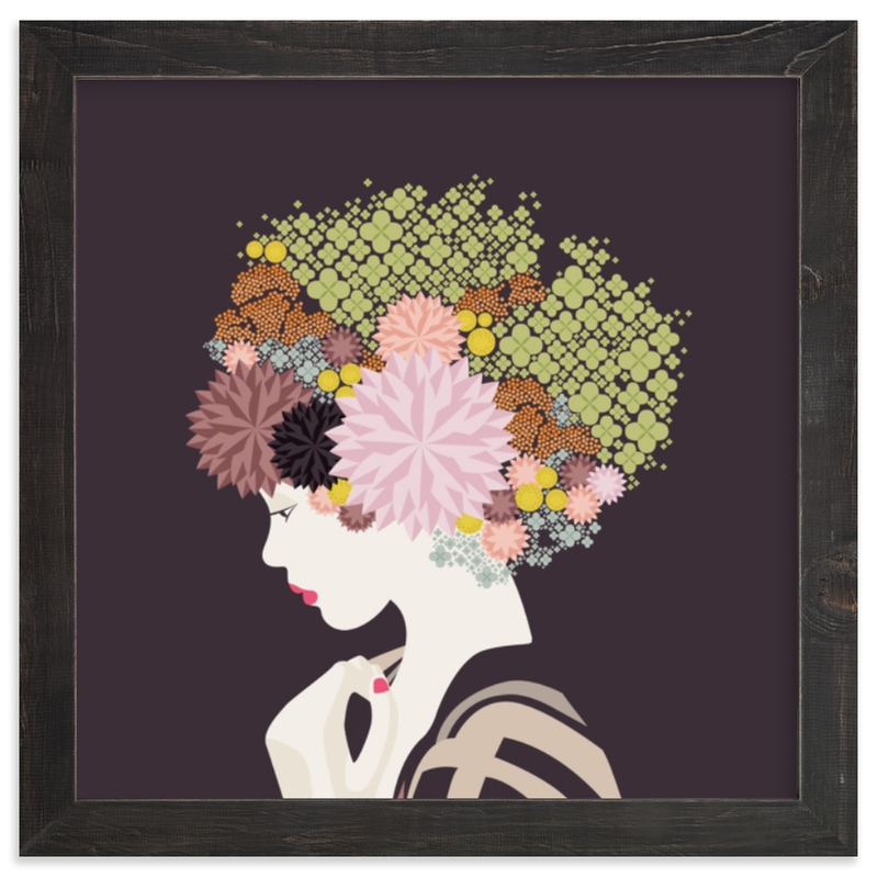 """""""I'd rather wear flowers """" - Limited Edition Art Print by Aspacia Kusulas in beautiful frame options and a variety of sizes."""