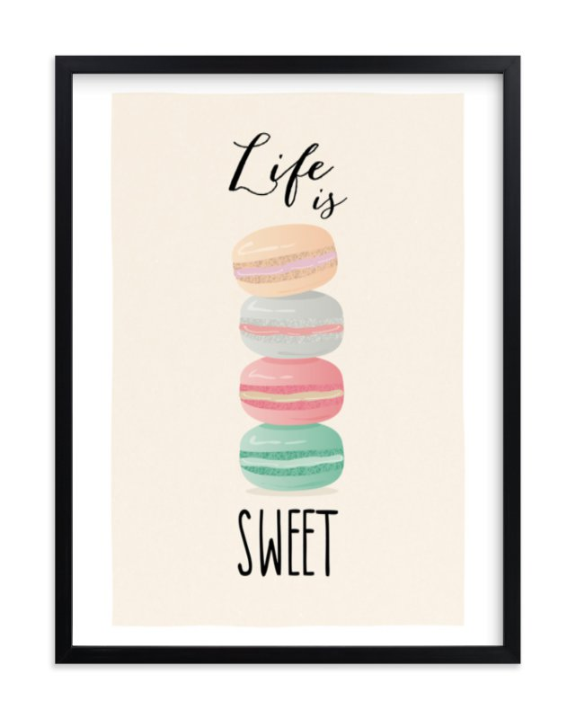 """""""Life is Sweet"""" - Limited Edition Art Print by Ana Sharpe in beautiful frame options and a variety of sizes."""