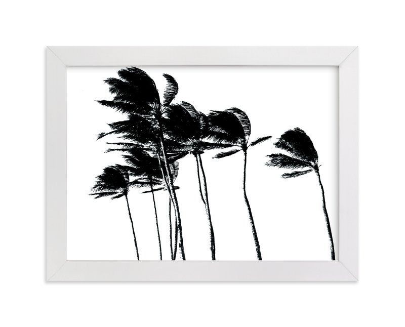 """""""Palm Trees in the Wind"""" - Limited Edition Art Print by BeachPaperCo in beautiful frame options and a variety of sizes."""