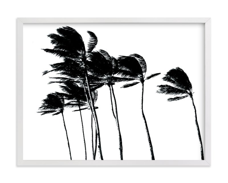"""Palm Trees in the Wind"" - Limited Edition Art Print by BeachPaperCo in beautiful frame options and a variety of sizes."