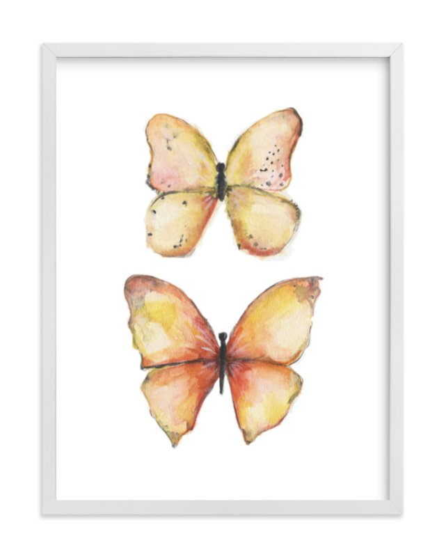 """""""Rhopalocera One"""" - Limited Edition Art Print by Erin Deegan in beautiful frame options and a variety of sizes."""