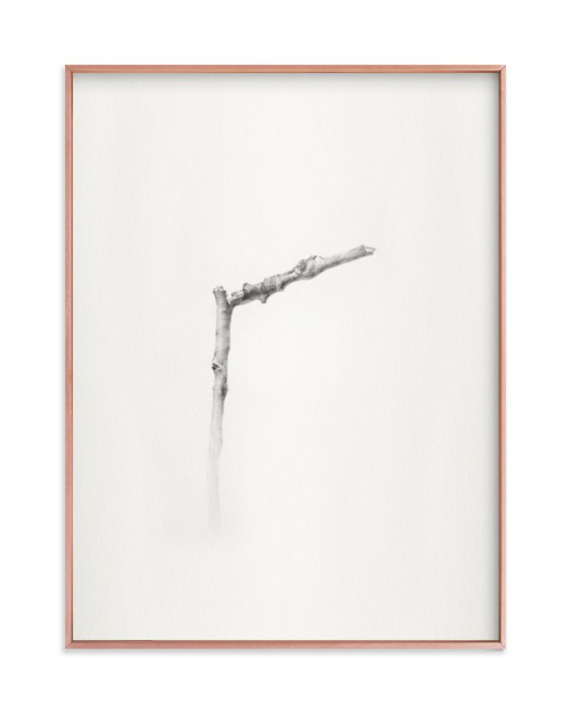 """Twig- Solitude 01"" - Limited Edition Art Print by jinseikou in beautiful frame options and a variety of sizes."