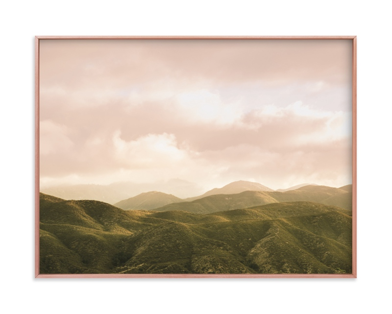 """Hazy Mountain High"" - Limited Edition Art Print by Emmy Hagen in beautiful frame options and a variety of sizes."
