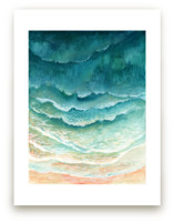 Ombre Waves by Honeybunch Studio