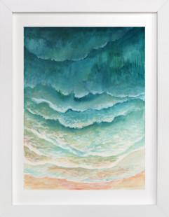 Ombre Waves Art Print