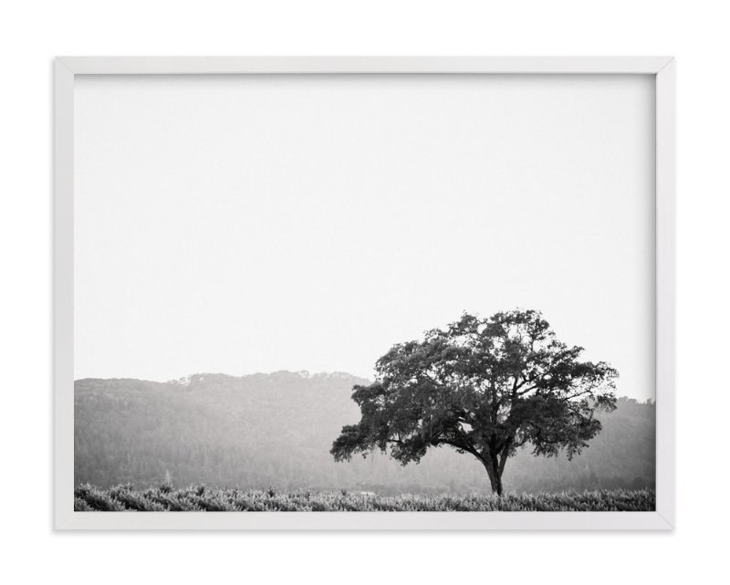 This is a black and white art by Lindsay Ferraris Photography called Wild Oak.