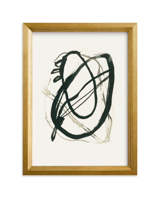 """Black 01"" - Limited Edition Art Print by Catilustre in beautiful frame options and a variety of sizes."