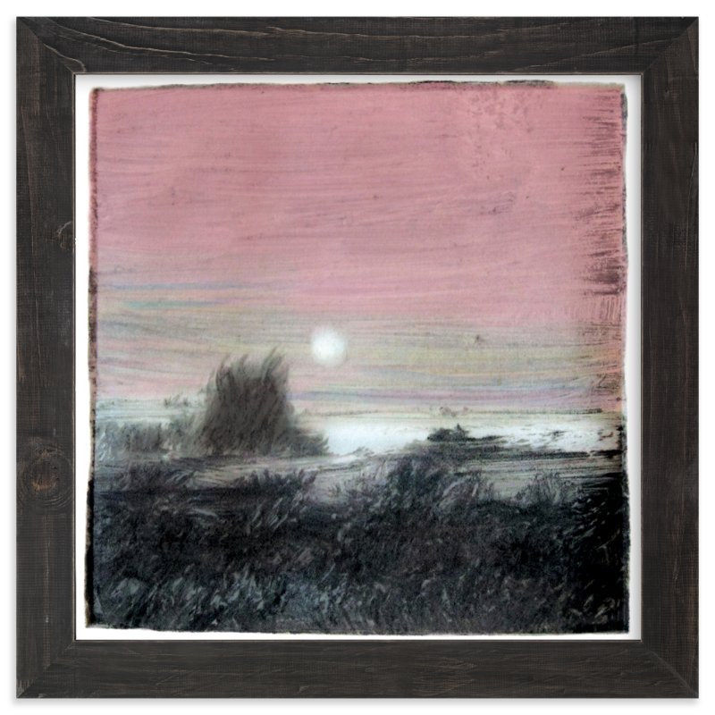 """Moon over Henry's Lake"" - Limited Edition Art Print by Krista Messer in beautiful frame options and a variety of sizes."