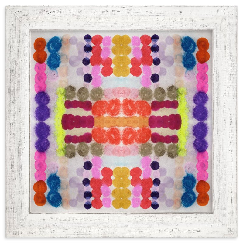 """Dippin Dot Squared No 3"" - Limited Edition Art Print by HAPI ART in beautiful frame options and a variety of sizes."