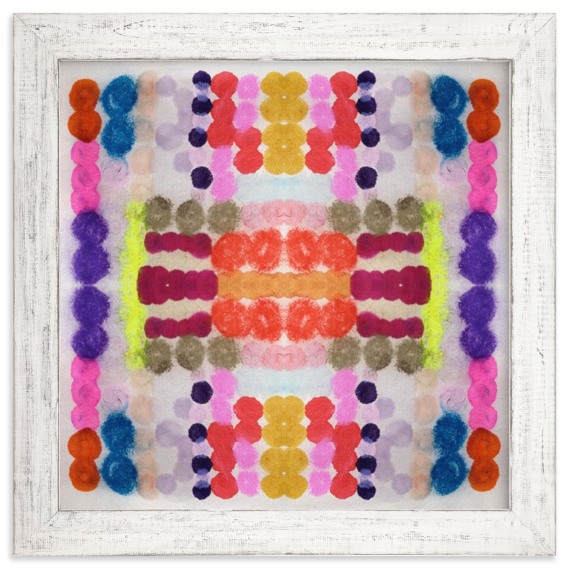 """""""Dippin Dot Squared No 3"""" - Limited Edition Art Print by Kristi Kohut - HAPI ART AND PATTERN in beautiful frame options and a variety of sizes."""