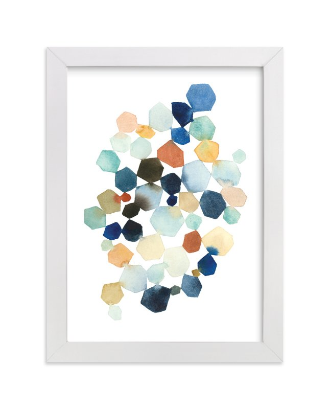 """""""Hexagon Cluster"""" - Limited Edition Art Print by Yao Cheng Design in beautiful frame options and a variety of sizes."""