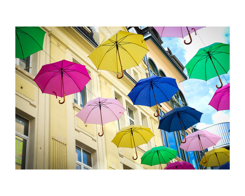 Umbrellas Wall Art Prints by Heather Squance | Minted