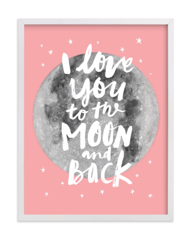 """""""To The Moon And Back"""" - Limited Edition Art Print by Cass Loh in beautiful frame options and a variety of sizes."""