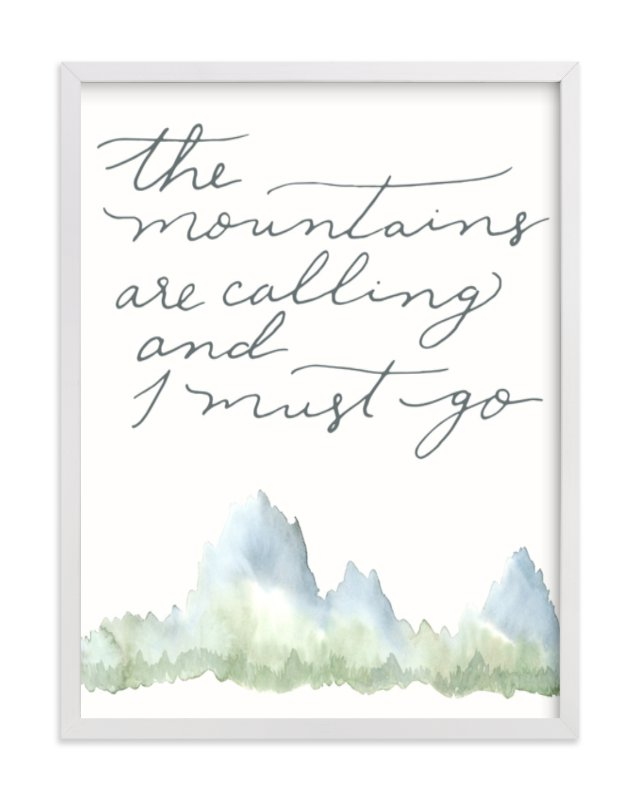 """""""Mountains"""" - Limited Edition Art Print by Wildflower Paper Company in beautiful frame options and a variety of sizes."""
