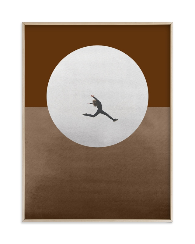 """Leap Over A Wall"" - Limited Edition Art Print by Kaitie Bryant in beautiful frame options and a variety of sizes."