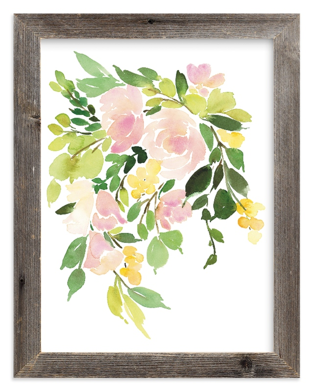 """Flora in Peach I"" - Limited Edition Art Print by Yao Cheng Design in beautiful frame options and a variety of sizes."