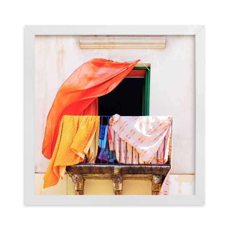 This is a beige art by Massimiliano Massimo Borelli called A Summer in Lipari.