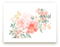 Peony with Spring Flowe... by Julie Song Ink