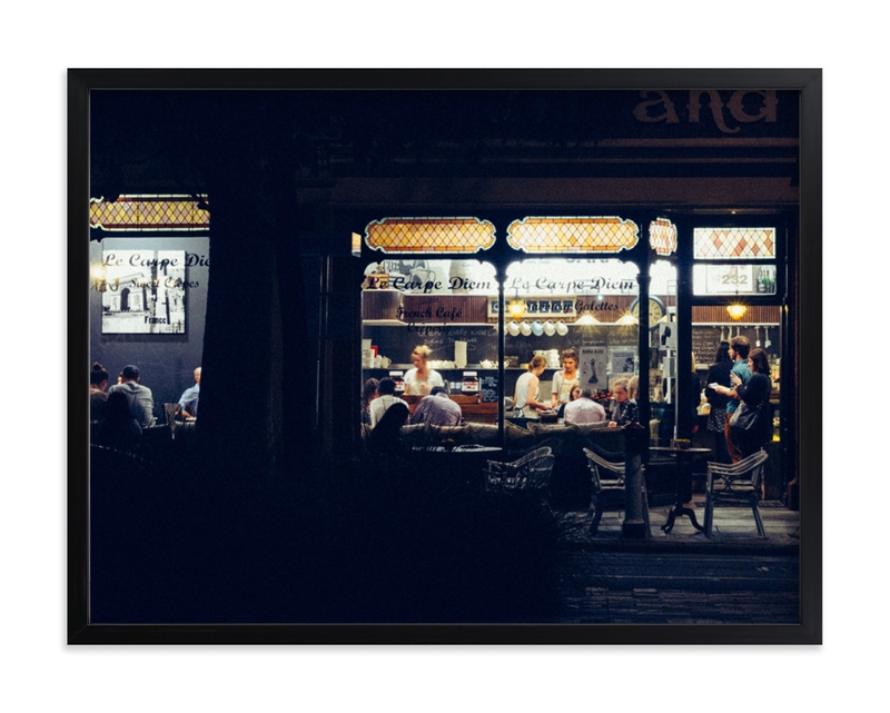 """Paris Nights"" - Limited Edition Art Print by Monday Project in beautiful frame options and a variety of sizes."