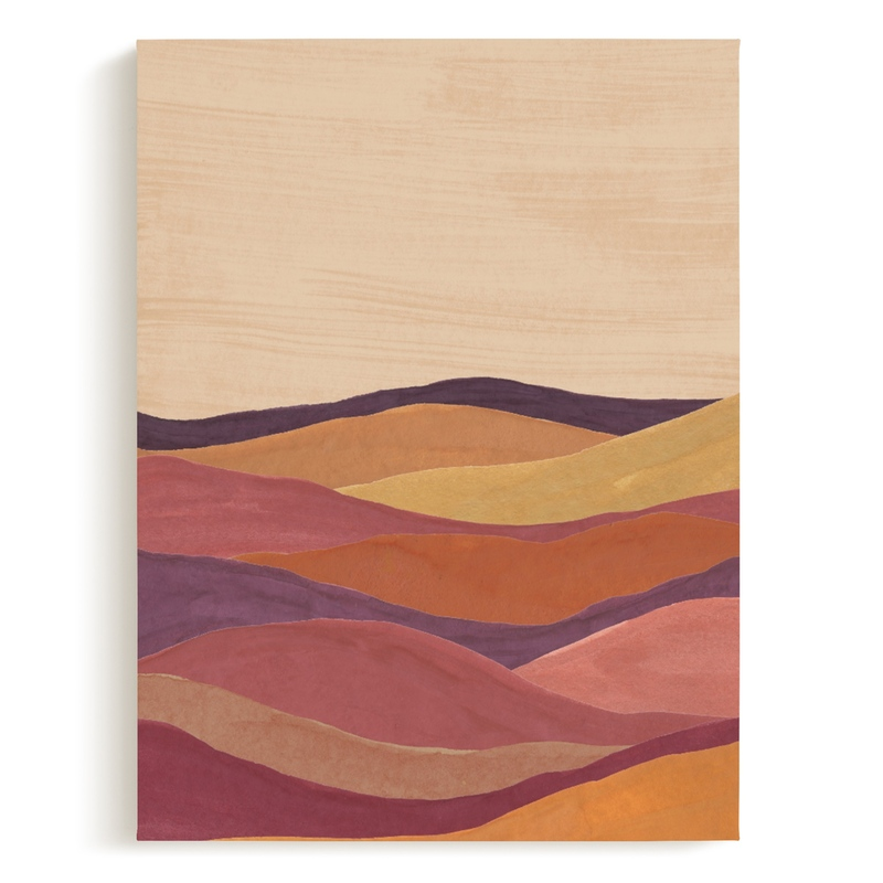 Desert layers Art Print