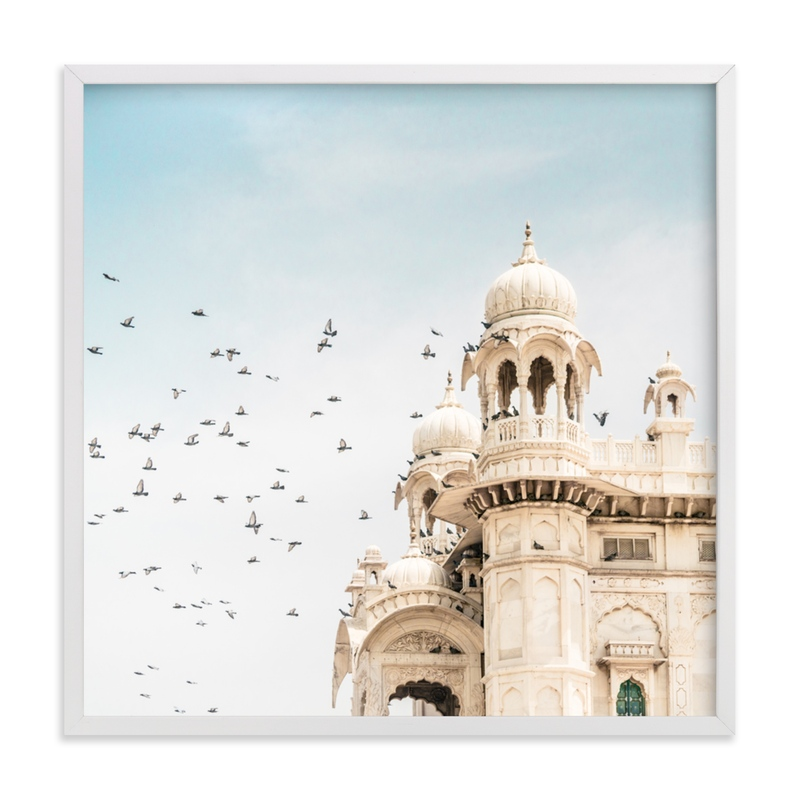 """""""Fly Away Palace"""" - Limited Edition Art Print by Kamala Nahas in beautiful frame options and a variety of sizes."""