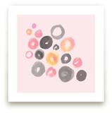 Watercolor Dots Art Prints