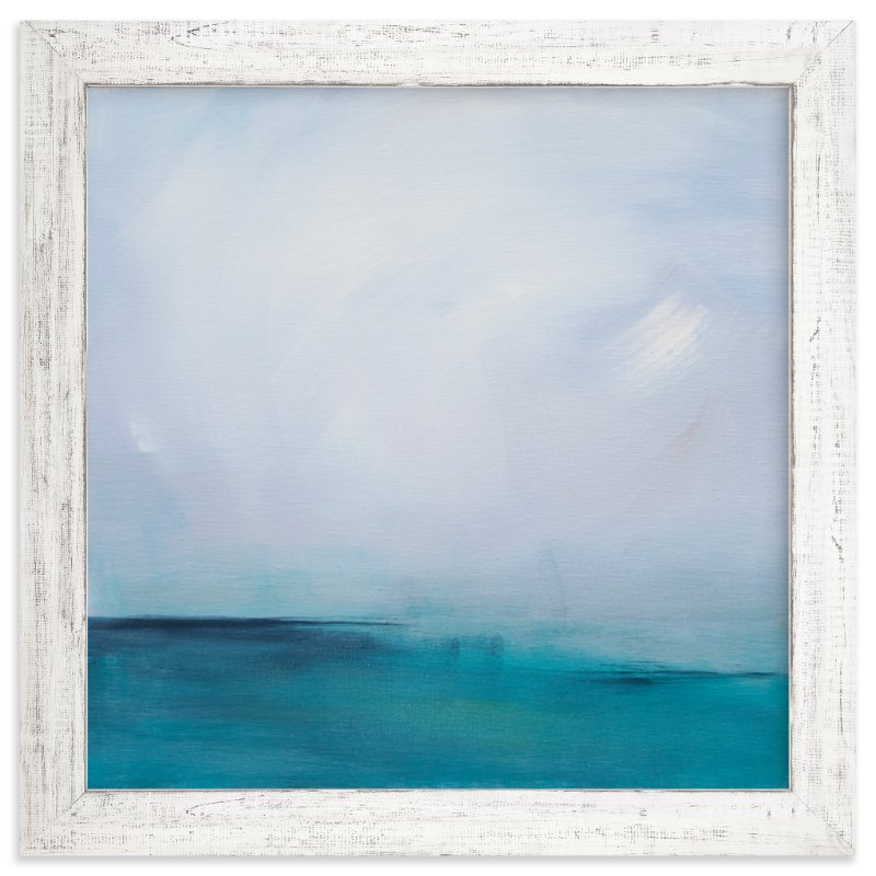 """Distant Island Pier"" - Limited Edition Art Print by Julia Contacessi in beautiful frame options and a variety of sizes."