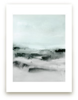 Watercolor Abstract Lands Series : Winter 2