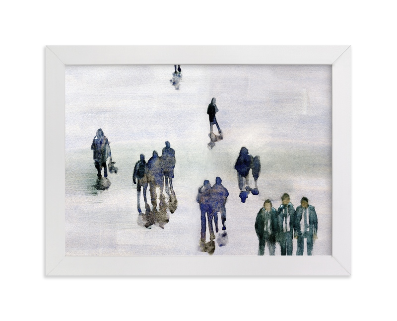 """In the crowd"" - Limited Edition Art Print by Lulaloo in beautiful frame options and a variety of sizes."
