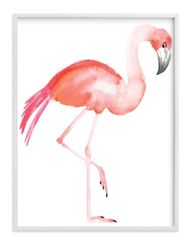 """Flamingo Road"" - Limited Edition Art Print by Smudge Design in beautiful frame options and a variety of sizes."