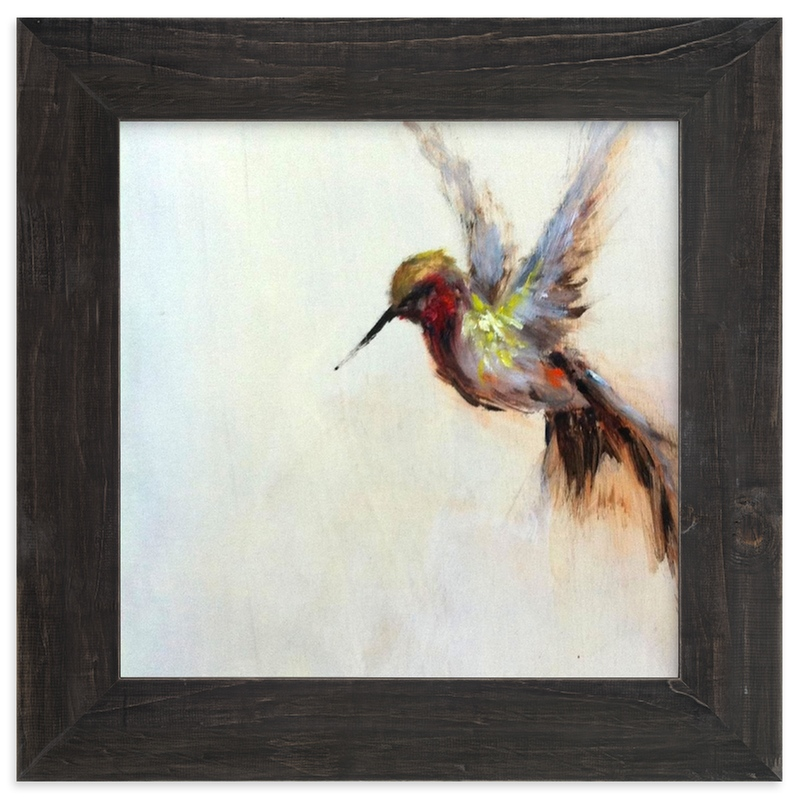 """""""The Humbly Hummingbird """" - Limited Edition Art Print by Amanda Faubus in beautiful frame options and a variety of sizes."""