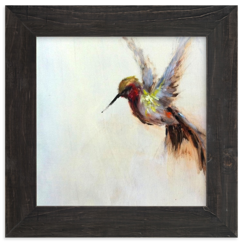 """The Humbly Hummingbird "" - Limited Edition Art Print by Amanda Faubus in beautiful frame options and a variety of sizes."