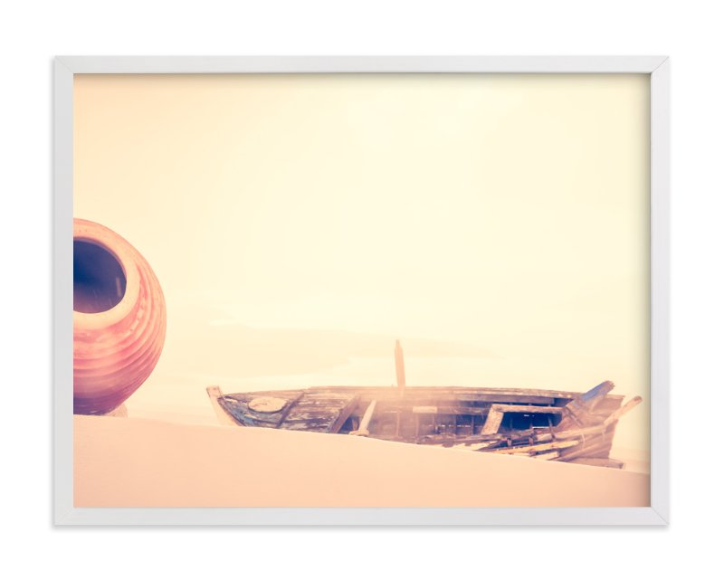"""a jar and a boat"" - Limited Edition Art Print by Qing Ji in beautiful frame options and a variety of sizes."