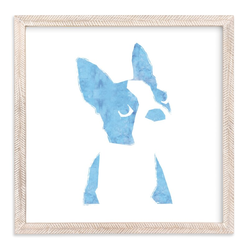 """baby boston"" - Limited Edition Art Print by Haley Weisberger in beautiful frame options and a variety of sizes."