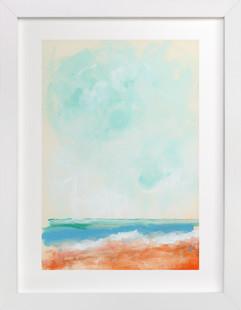 Beach Blaze Art Print