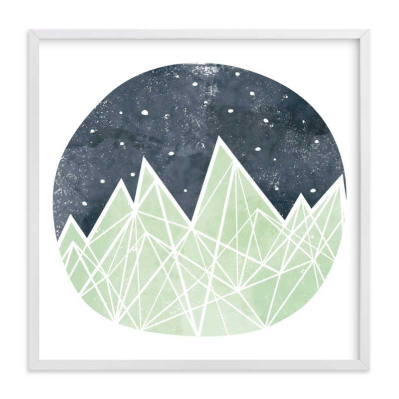 """""""Nighttime Sky"""" - Limited Edition Art Print by Shirley Lin Schneider in beautiful frame options and a variety of sizes."""