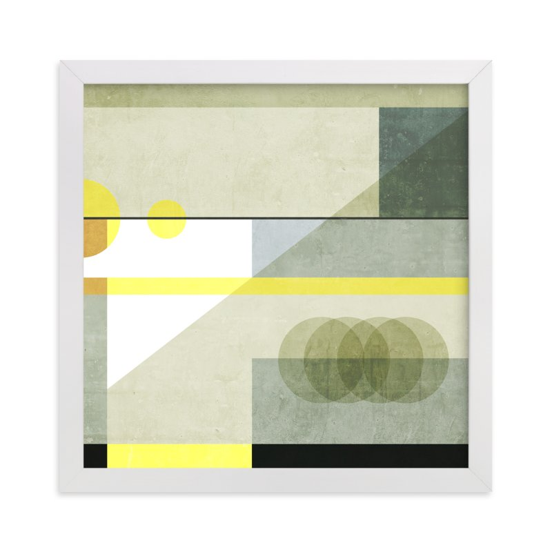 """Concrete blocks"" - Limited Edition Art Print by Lucrecia in beautiful frame options and a variety of sizes."