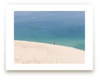 Lone Sunbather on Dunes by Heather Nash