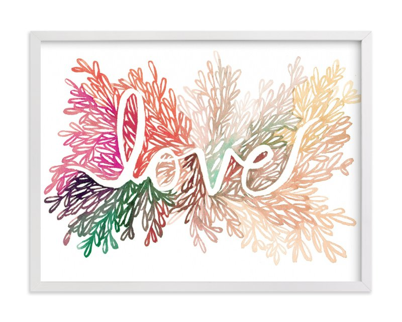 """Love"" - Limited Edition Art Print by Kelly Ventura in beautiful frame options and a variety of sizes."