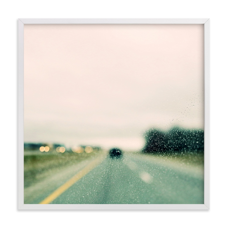 """""""Road and Rain #2"""" - Limited Edition Art Print by ALICIA BOCK in beautiful frame options and a variety of sizes."""