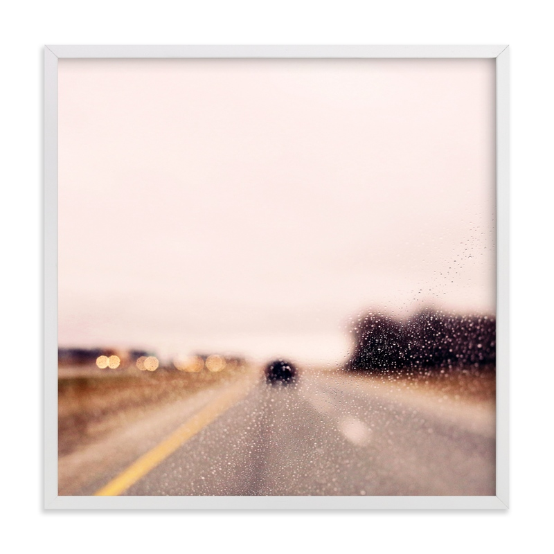 This is a colorful art by ALICIA BOCK called Road and Rain #2.