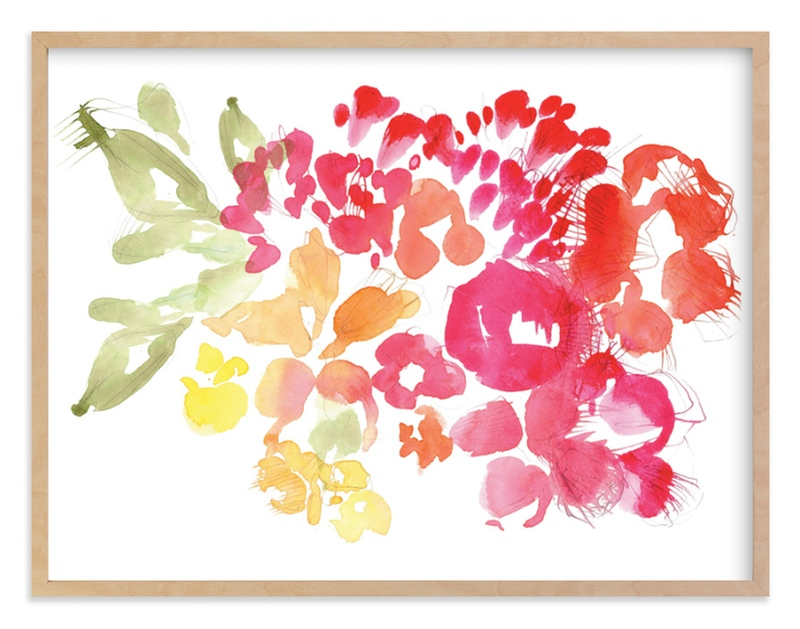 """Fresh Floral"" - Limited Edition Art Print by Kelly Ventura in beautiful frame options and a variety of sizes."