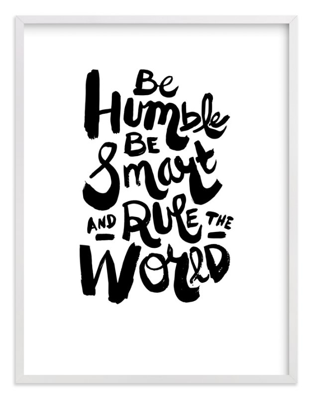 """""""Humble World"""" - Limited Edition Art Print by Heather Francisco in beautiful frame options and a variety of sizes."""