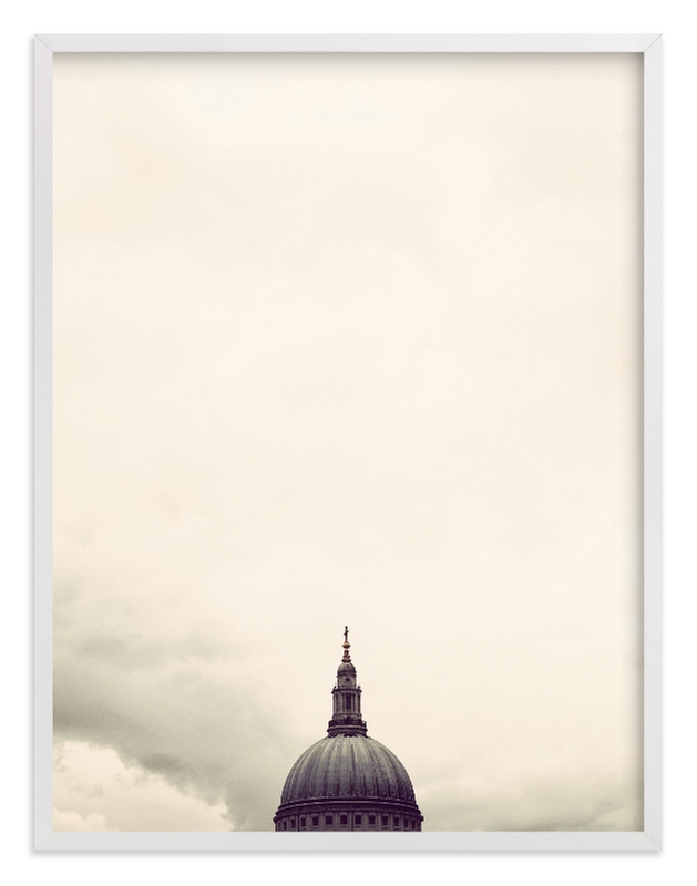 """""""St. Paul's Cathedral, London"""" - Limited Edition Art Print by 45wall design in beautiful frame options and a variety of sizes."""